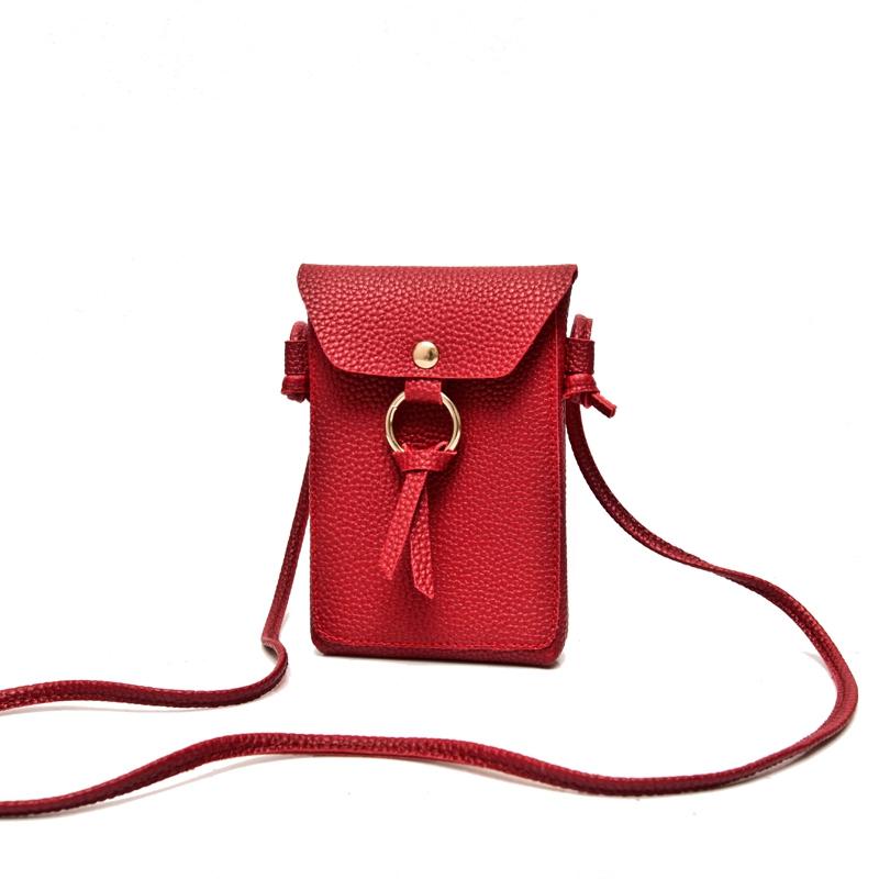 韩版新款小包包二层零钱手机袋