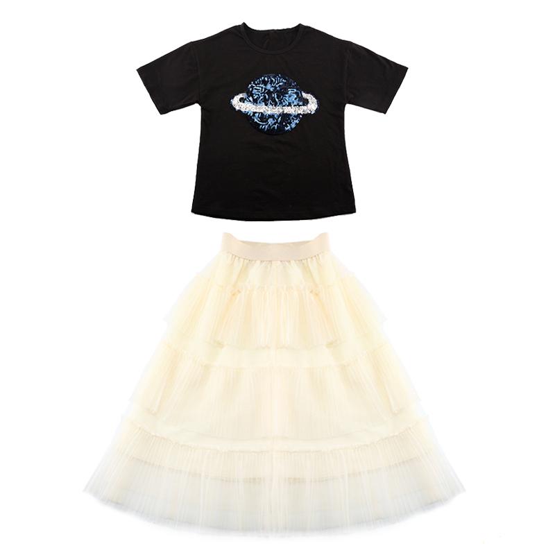 中大童女童洋气套装裙