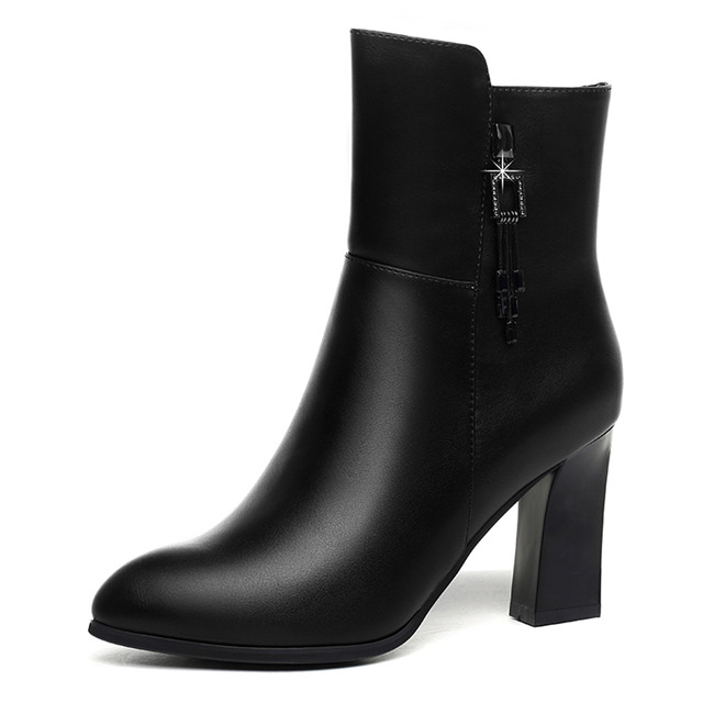 女鞋保暖加绒短靴靴子女冬