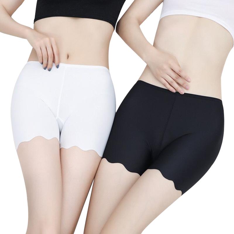 冰丝无痕白色打底防走光安全裤