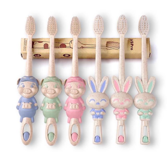 6支装-小麦超软细毛儿童牙刷