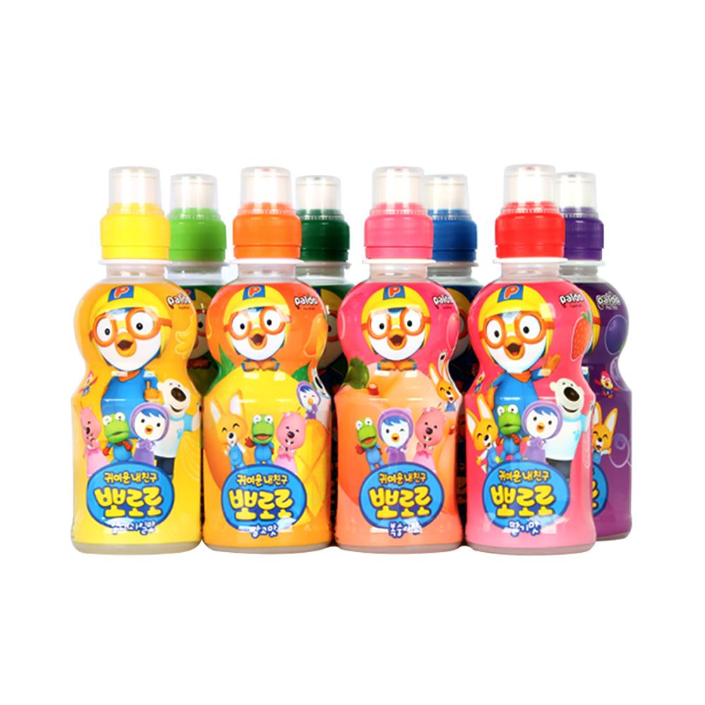 韩国进口pororo啵乐乐儿童果味饮料235ml水果味饮料单瓶蓝莓味