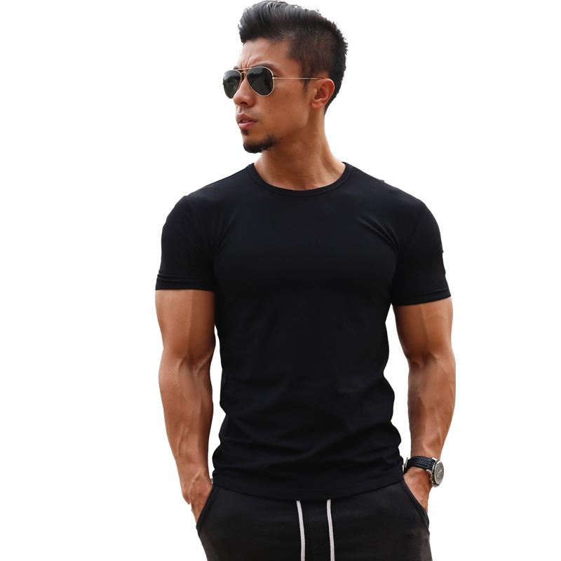 男士健身运动短袖T恤弹力棉