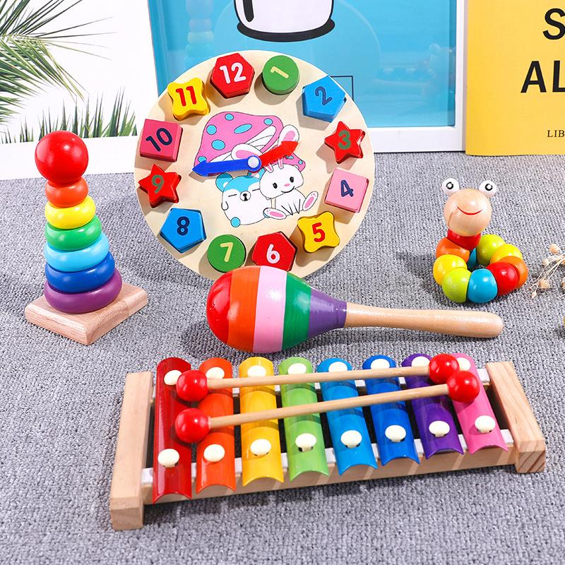 兒童嬰兒手敲琴八音小木琴益智