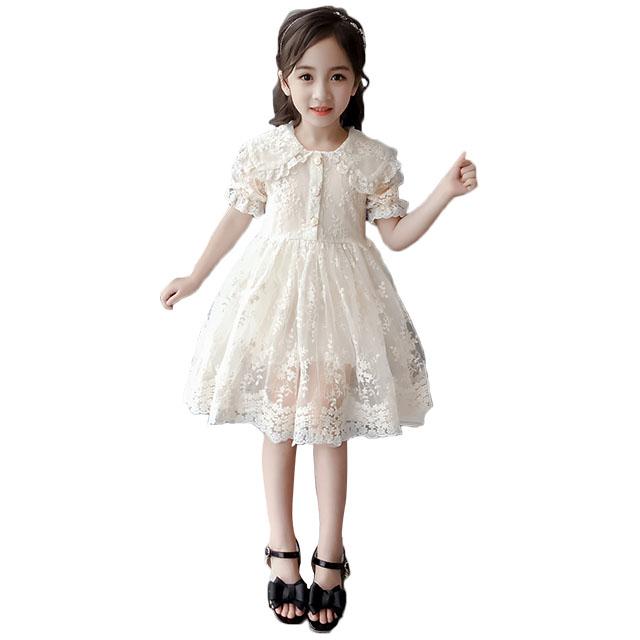 女童蕾丝公主连衣裙