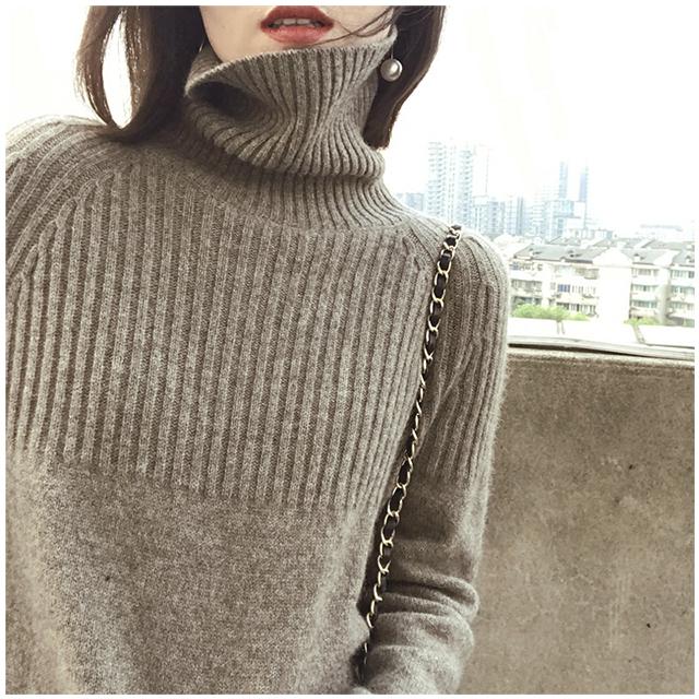 100%加厚羊毛衫慵懒宽松毛衣