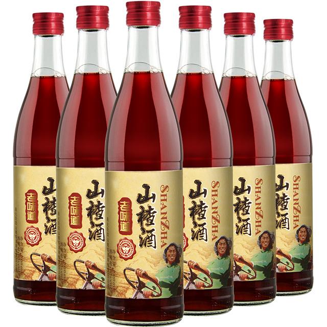 老味道山楂酒女士低度果酒6瓶