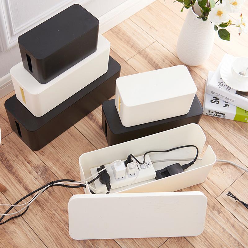 电线收纳盒电源插线板理线器插