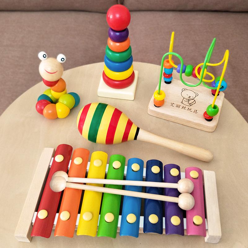 幼儿童婴儿八音小木琴手敲琴8