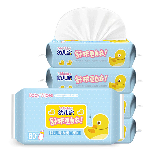 幼儿宝湿巾80抽X4大包婴儿湿巾