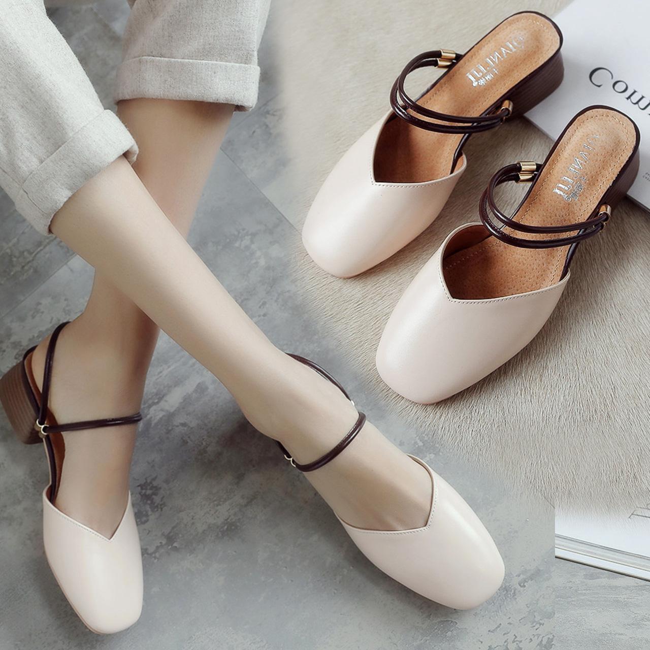 [100%羊皮]一鞋两穿凉拖