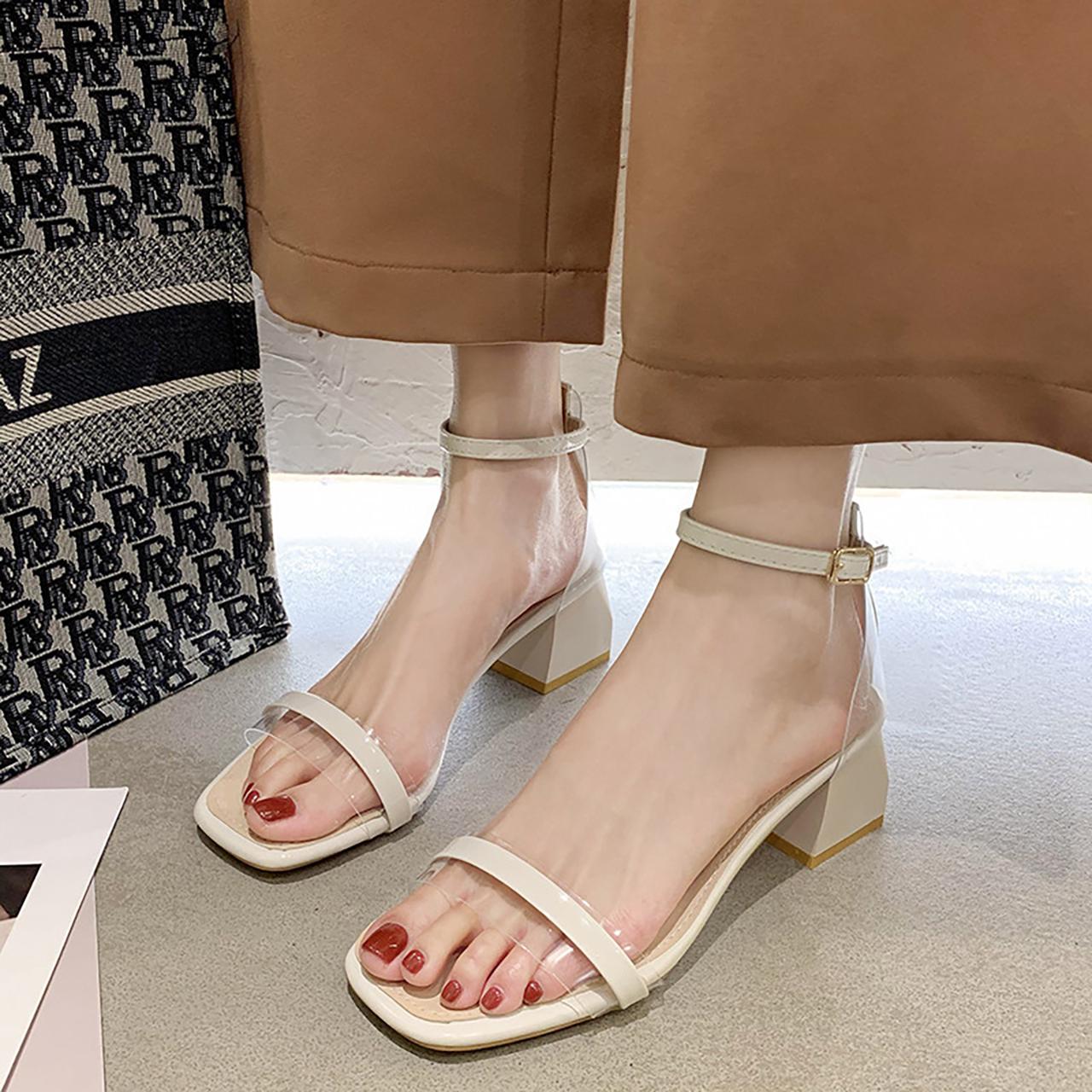 凉鞋女2020年新款夏ins潮粗跟