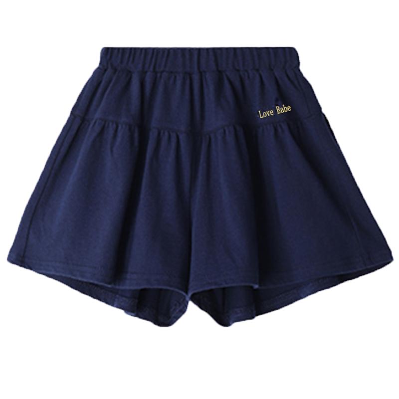 夏季女大童纯棉宽松外穿短裤