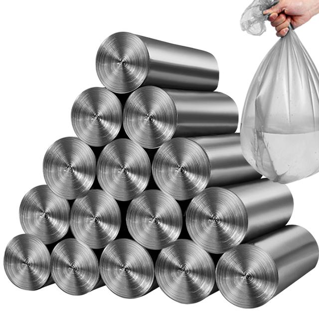 150只银钢袋家用加厚垃圾袋