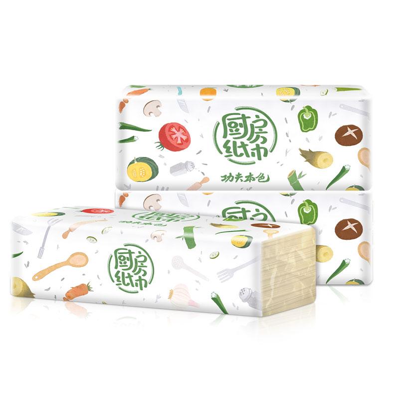 植护厨房用纸吸水吸油纸巾擦油