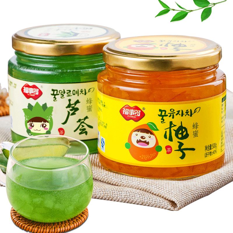 蜂蜜柚子芦荟茶1kg 维C果茶