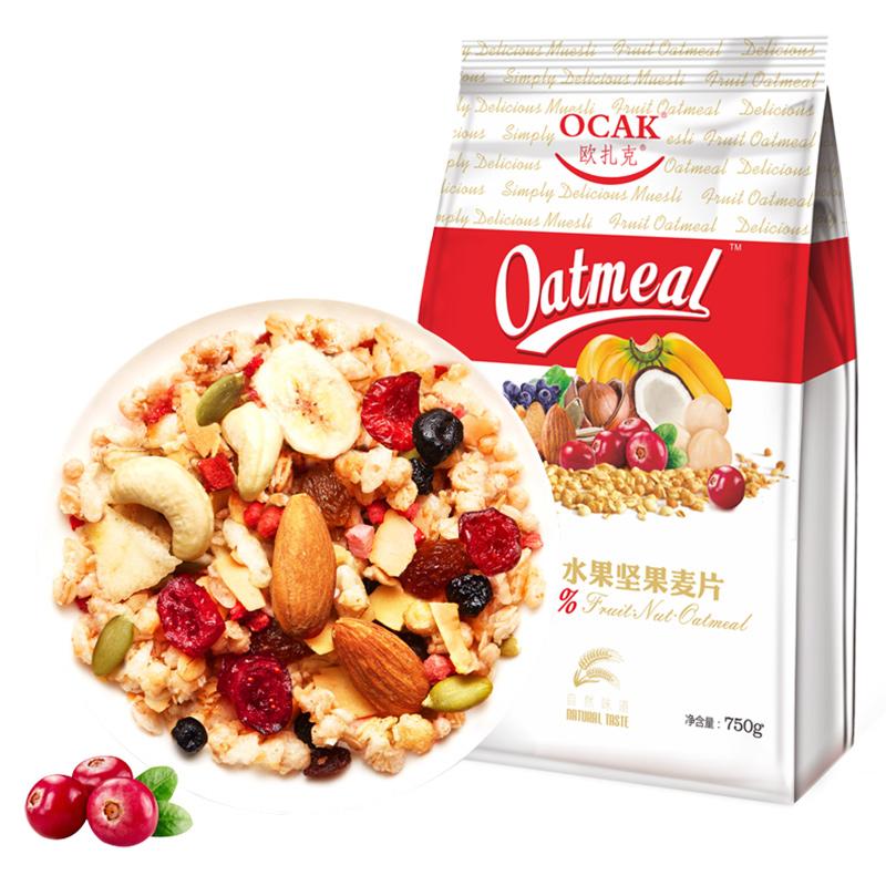 欧扎克50%水果坚果麦片750g