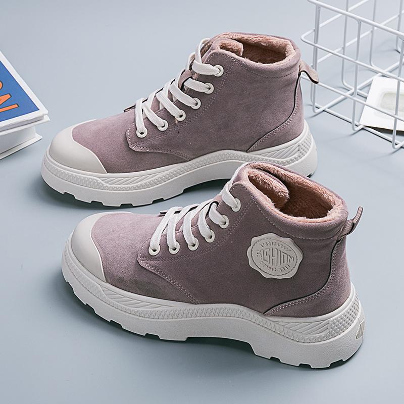 秋冬季马丁靴女新款百搭短靴子