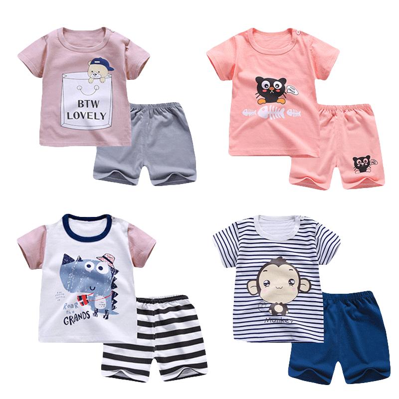 儿童短袖套装夏季2019新款纯棉