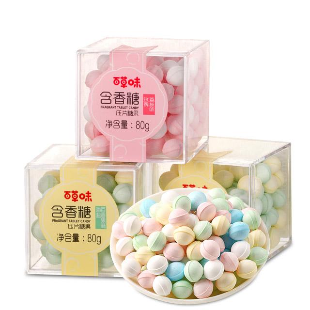 百草味 樱花味含香糖80g