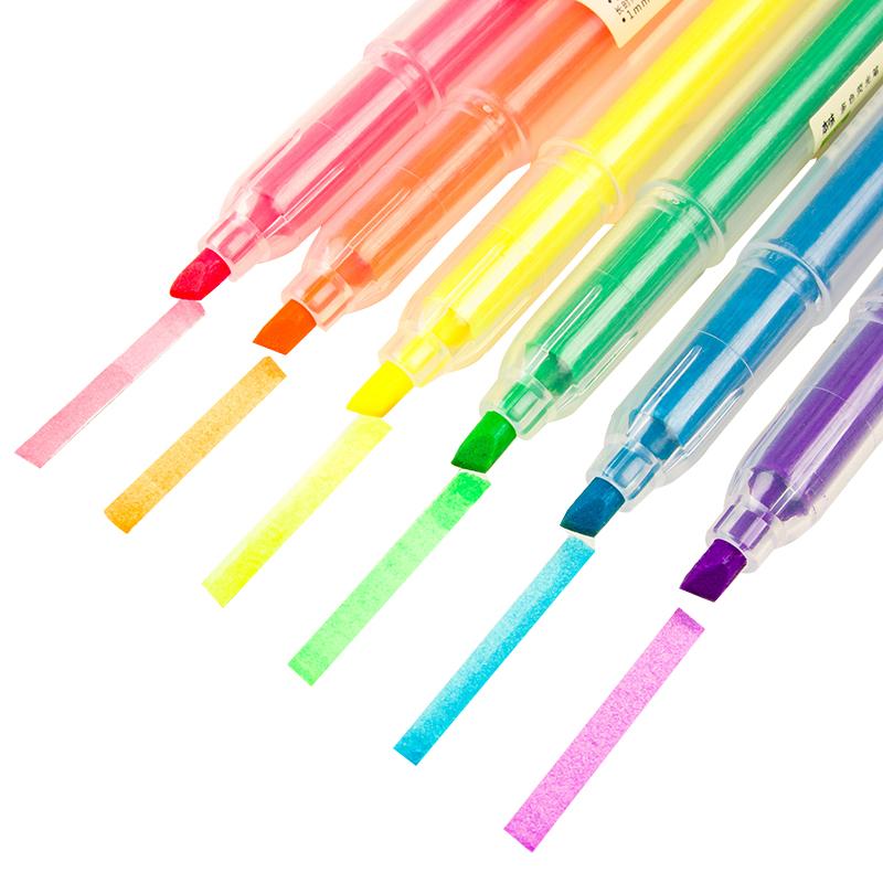 晨光荧光笔6色装划重点记号笔