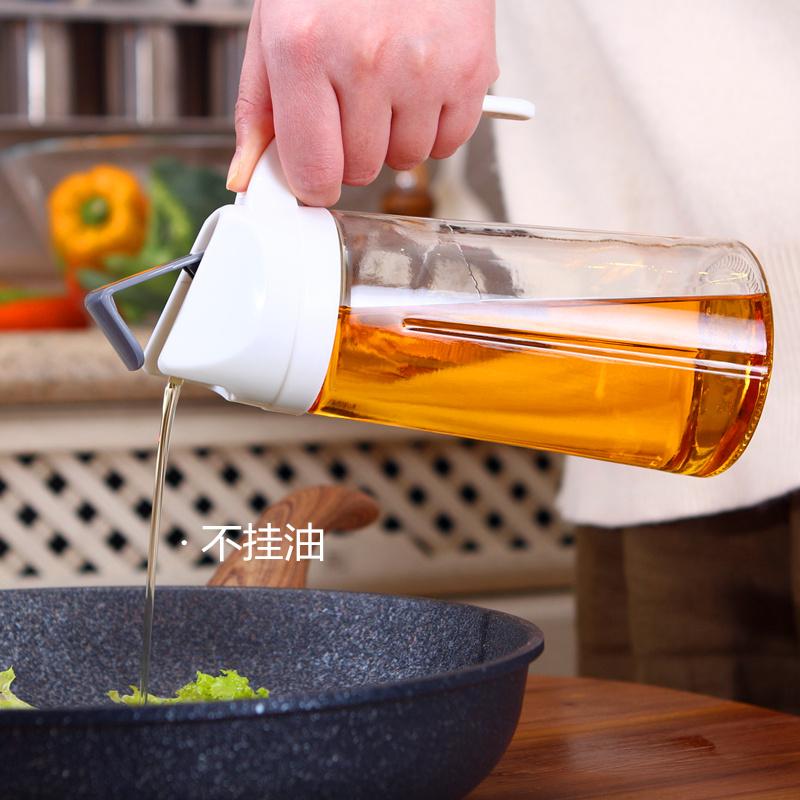 自动开合玻璃防漏油瓶油壶