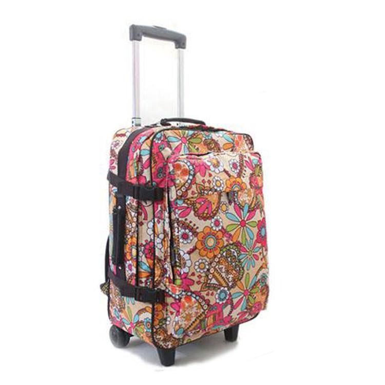 肩包 超轻旅行箱包 行李包可爱拖包2016大容量拉杆背包 多功能双