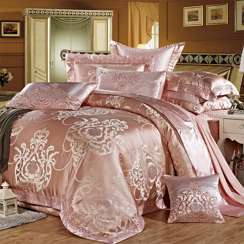 简诺家纺婚庆四件套床上用品刺绣欧式结婚四六八十多件套美式床品