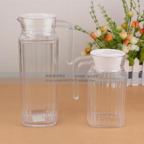 塑料水壶耐热冷水壶透明凉水壶果汁壶酒壶条纹扎壶开水壶饮料壶