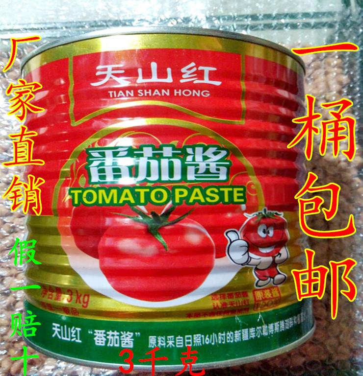 包邮 天山红番茄酱 番茄酱3000g大包装 番茄酱 西红柿酱 餐饮实用