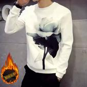 秋装 学生潮流男秋卫衣 外套衣服韩版 t恤男士 秋季圆领印花加绒长袖