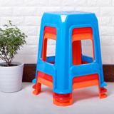 包邮 塑料凳子 叠放凳 成人大方凳 加厚加高 家用 彩色凳 餐饮凳