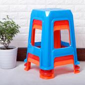 包邮 加宽加厚加高塑料凳大方凳子叠放凳餐饮凳排挡凳子彩色凳 新品