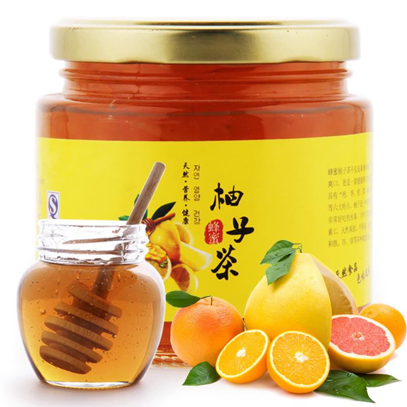 味来轩蜂蜜柚子茶 蜜丝柚 蜜炼柚子茶 韩国果味茶水果茶500g 包邮