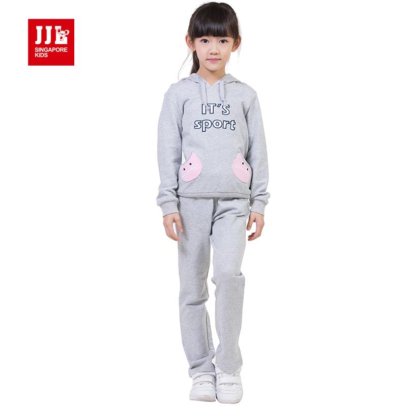 童装女童春款纯棉套装6-8季季乐正品9-12-14岁中大童新款两件套潮