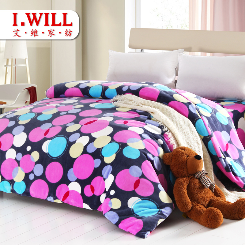 艾维家纺 单个法莱绒被套 珊瑚绒 200*230 1.5米床适用 包邮