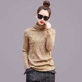欧洲站2016秋冬新款长袖针织衫修身显瘦打底衫高领毛衣女套头女装