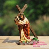 树脂工艺家居教堂汽车装饰耶稣受难十字架摆件设基督教天主教礼物