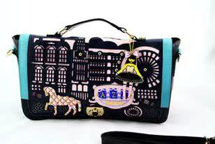新款阿扎小王子小公主 镂空卡通学院风韩版横款手提斜跨包