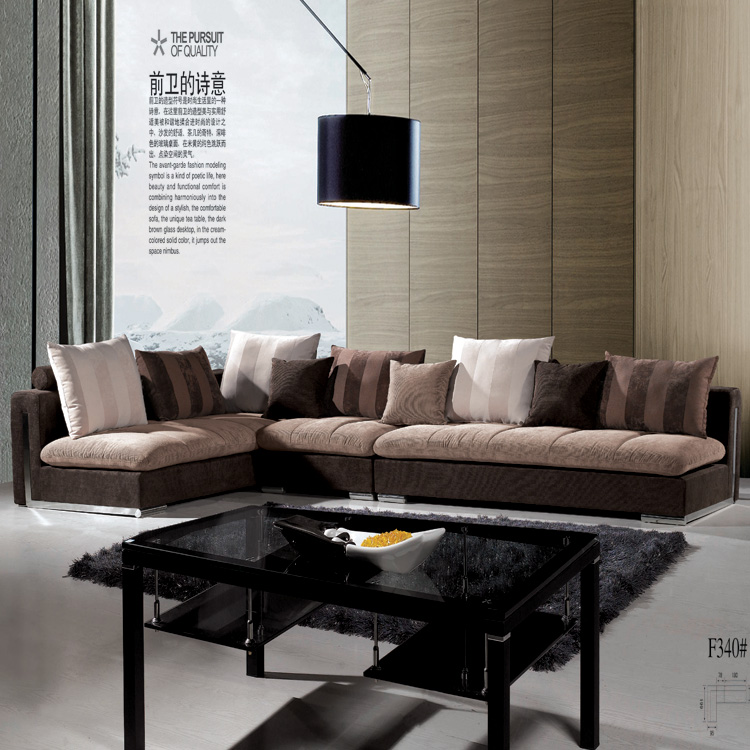 简约现代布艺沙发 休闲L型小户型沙发可拆洗软沙发转角组合布沙发