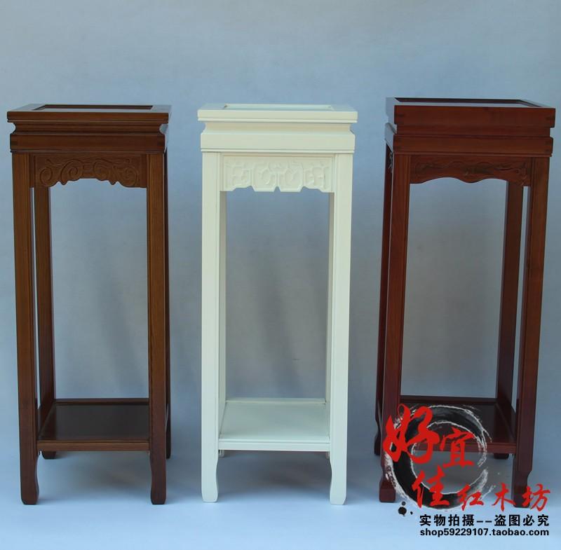 新款仿红木家具 水曲柳花架 实木方花架 可拆装花盆架 简约台灯架
