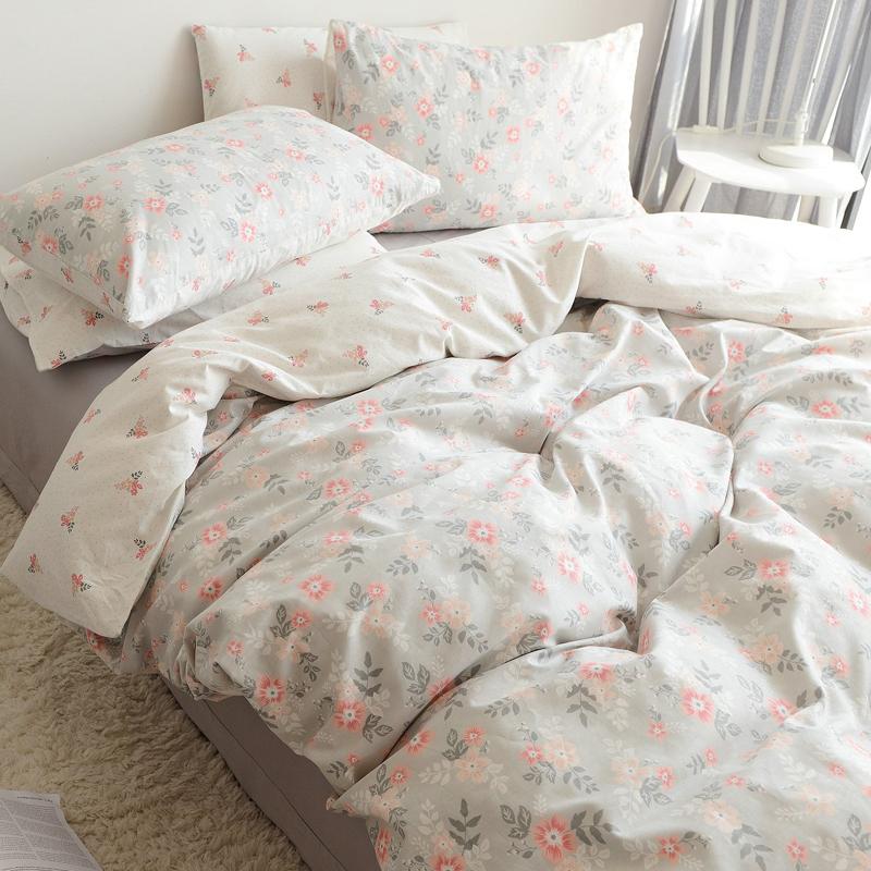 定做 清新床单碎花纯棉全棉四件套小韩式小