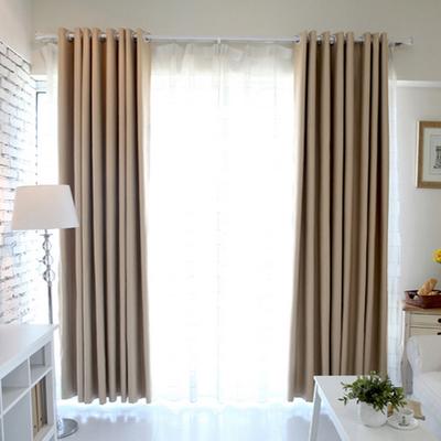 全遮光纯色加厚隔音窗帘韩国高档客厅卧室飘窗高精密卿尚成品特价