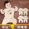 婴儿连体衣夏季纯棉宝宝睡衣薄春秋彩棉6秋装新生幼儿衣服0-3个月