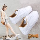 百搭2016春季新款帆布鞋女学生休闲板鞋韩版系带小白鞋厚底运动鞋