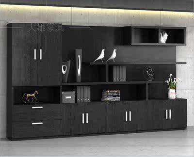 文件柜 木质资料柜档案柜带锁 玻璃门书柜广州办公室家具储物柜子