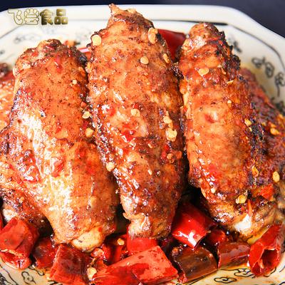 四川特产麻辣小吃鸡翅中真空包装卤味熟即食零食小吃鸡中翅200克