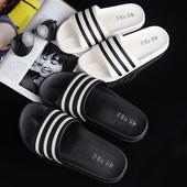 防滑浴室拖鞋 厚底塑料情侣家居拖鞋 韩版 简约一字拖鞋 男拖鞋 新款
