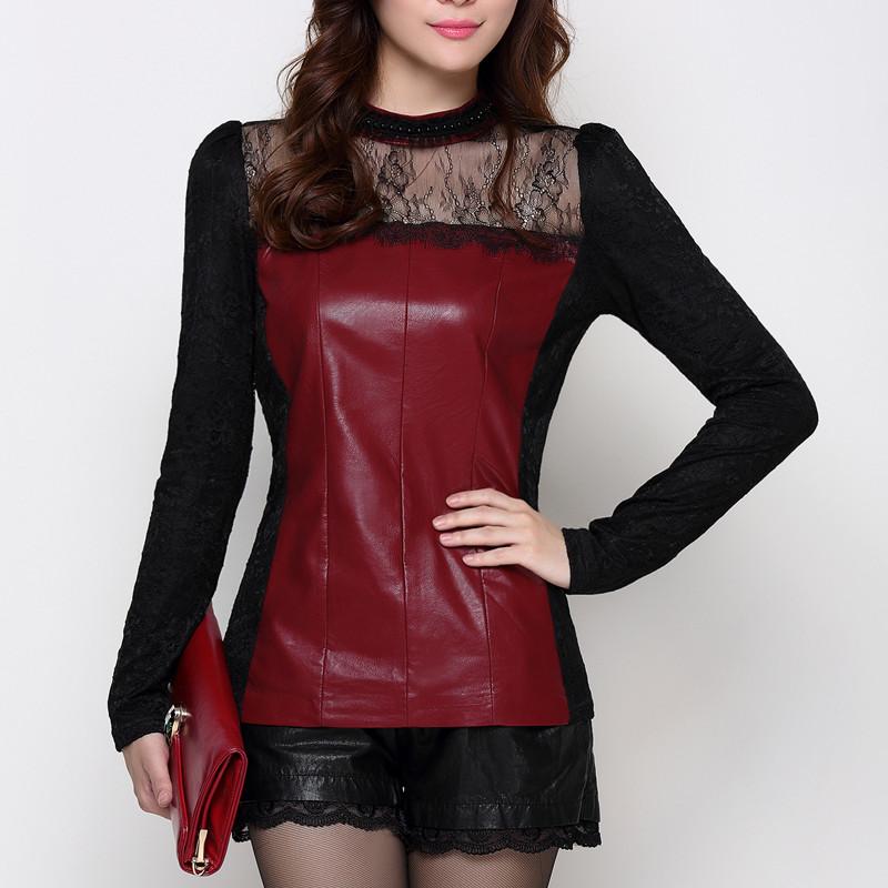 冬装新品加厚加绒韩版长袖蕾丝蕾丝衫上衣 女修身拉绒网纱打底衫