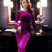 韩版主持人派对长款显瘦宴会年会晚装结婚新娘敬酒服伴娘小礼服夏